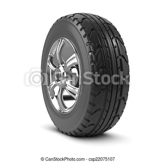 3d Car wheel - csp22075107