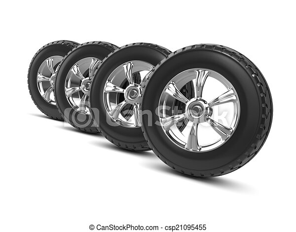 3d Car wheels - csp21095455