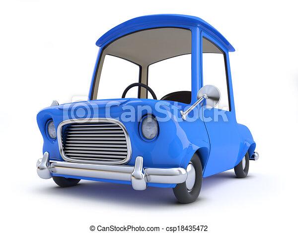 3d Cartoon car - csp18435472