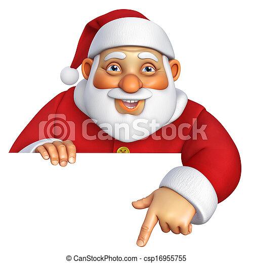 3d cartoon santa - csp16955755