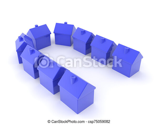 3d, casas, de, vecindad, saco, interpretación, cul - csp75059082
