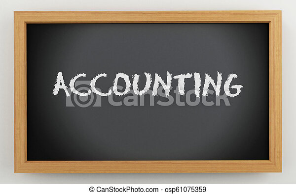 3d chalkboard with Accounting text - csp61075359