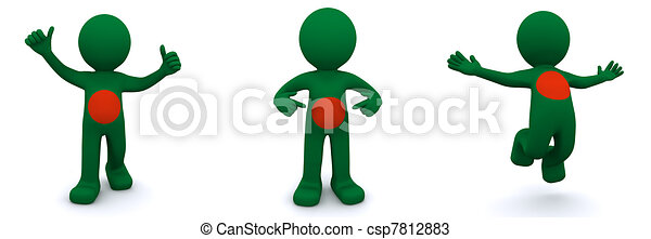3d character textured with flag of Bangladesh - csp7812883