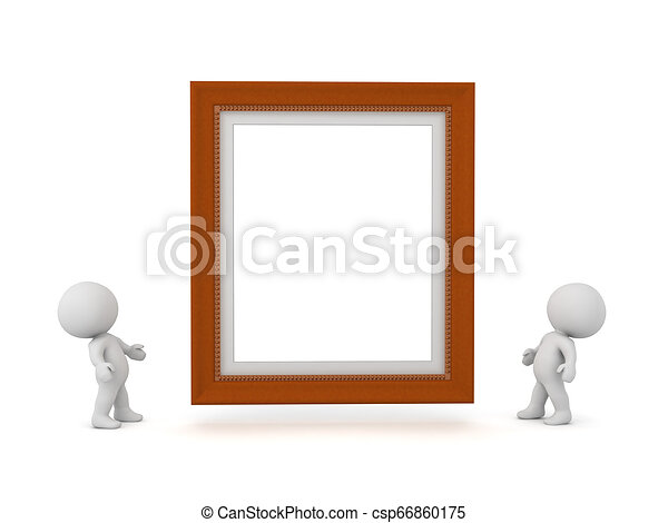 3D Characters with Large Diploma Frame - csp66860175