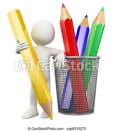 3D child - Color pencils - csp9315275