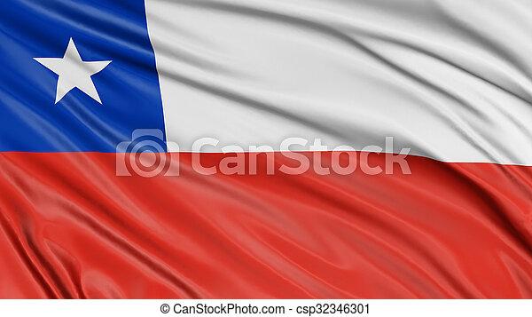 3D Chilean flag - csp32346301