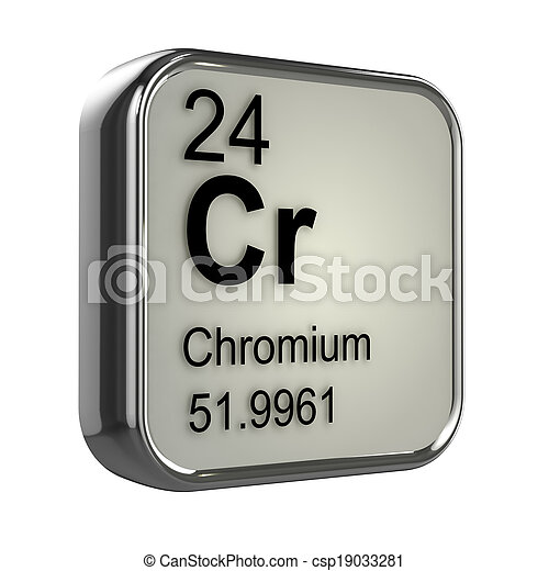 3d Chromium element - csp19033281