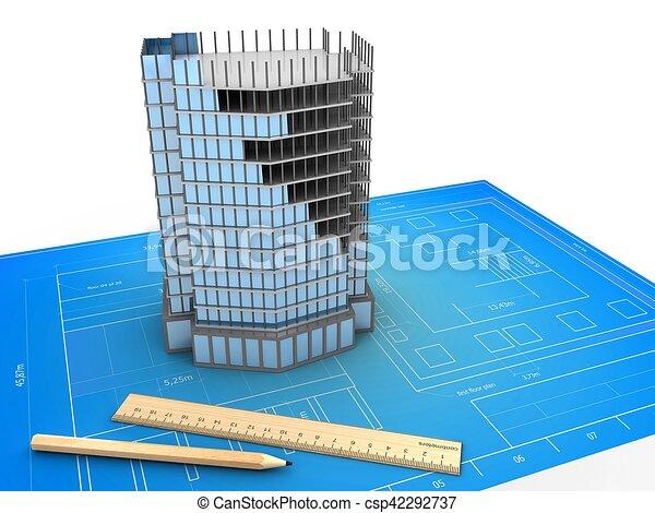 3d city building - csp42292737