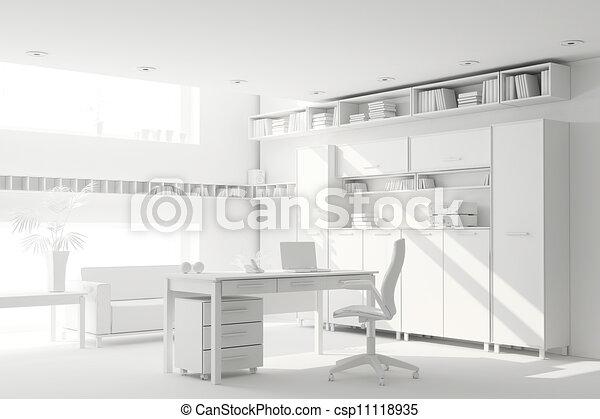 3d clay render of a modern interior design - csp11118935