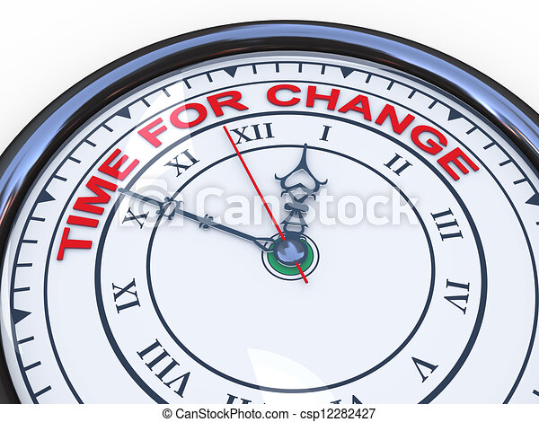 3d clock - time for change - csp12282427