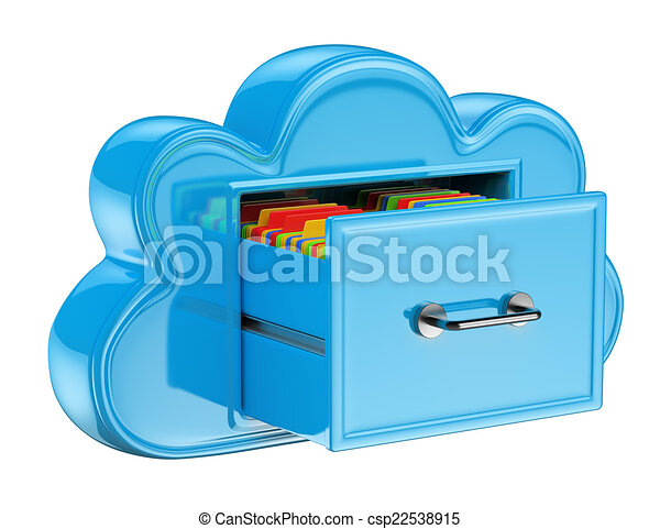 3D Cloud storage services concept - csp22538915