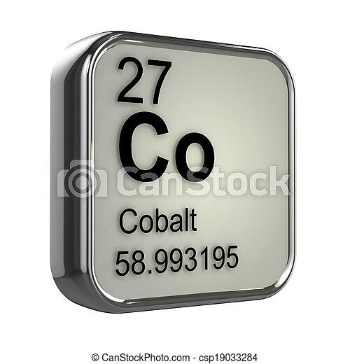 3d Cobalt element - csp19033284