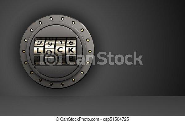 3d code lock door code lock door - csp51504725 & 3d code lock door code lock door. 3d illustration of code lock door ...