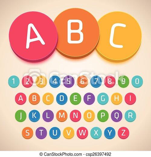 3D Colorful Alphabet. Vector Font - csp26397492