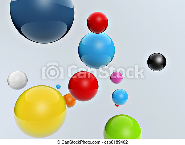 3d colorful balls - csp6189402