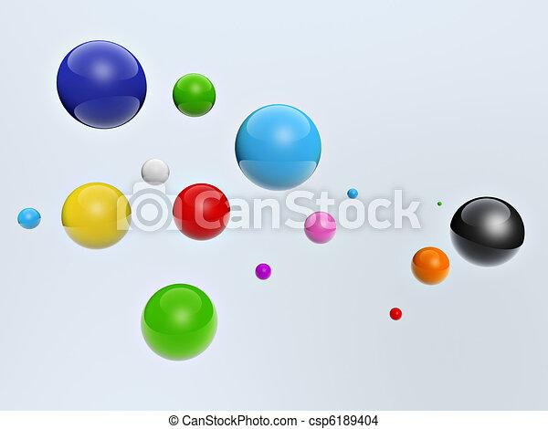 3d colorful balls - csp6189404
