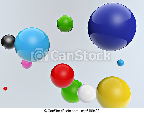 3d colorful balls - csp6189403