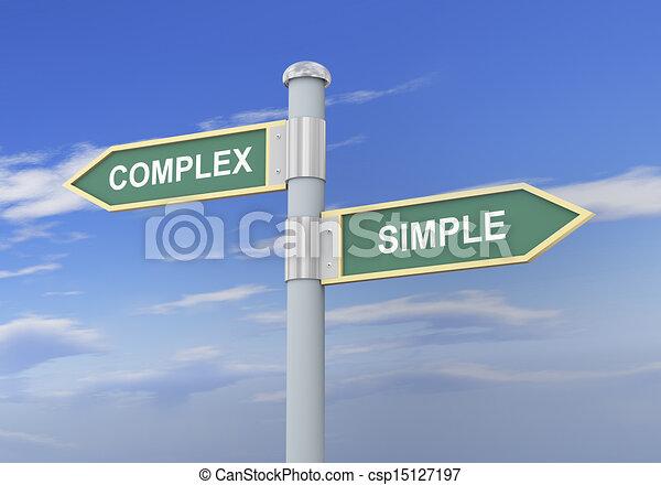 3d complex simple road sign - csp15127197