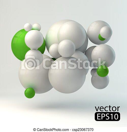 3D concept illustration. Vector template.4.eps - csp23067370
