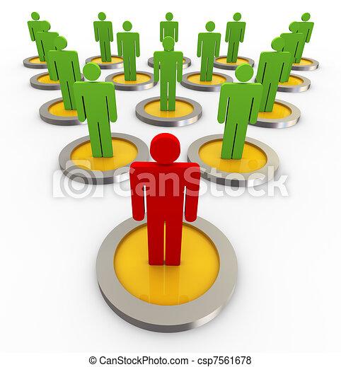 3d concept of leadership - csp7561678