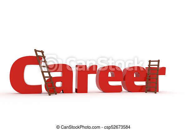 3d concept with the word Career - csp52673584