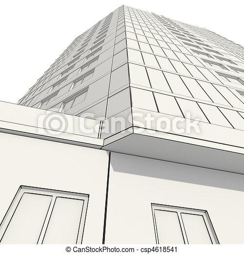 3D Construction Of Office Building   Csp4618541
