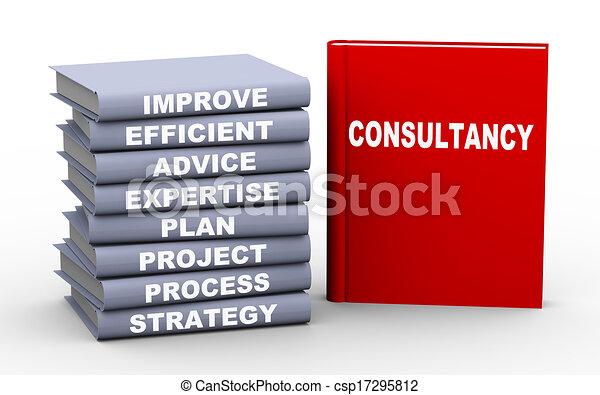 3d consultancy concept books - csp17295812