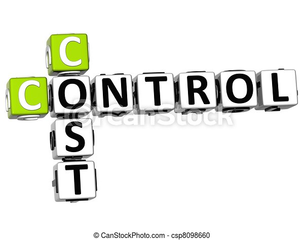 3D Control Cost Crossword - csp8098660