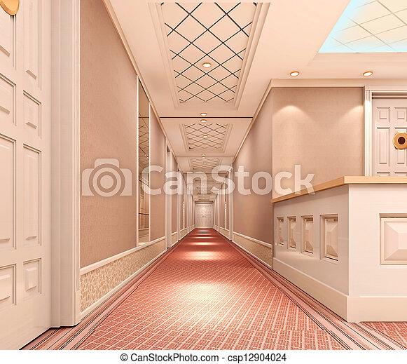 3d corridor  - csp12904024