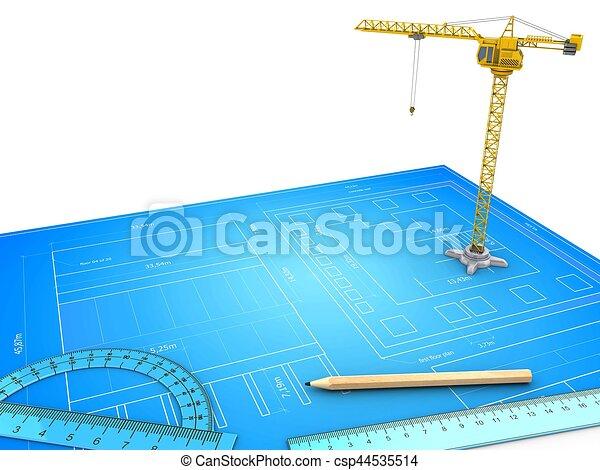 3d crane - csp44535514