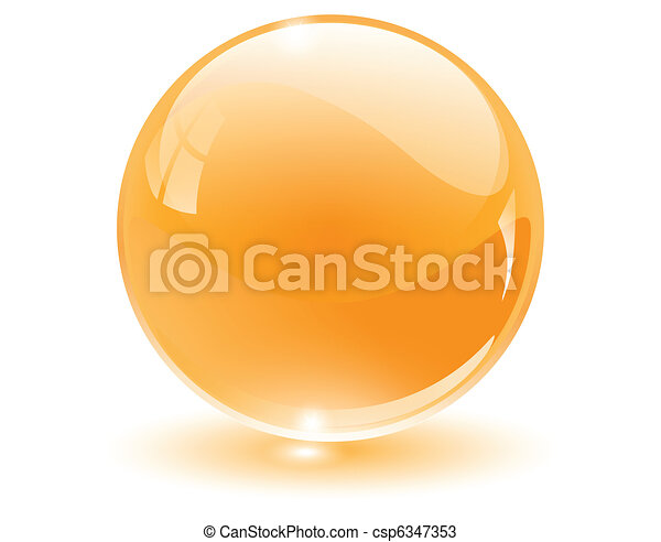 3D crystal, glass sphere - csp6347353