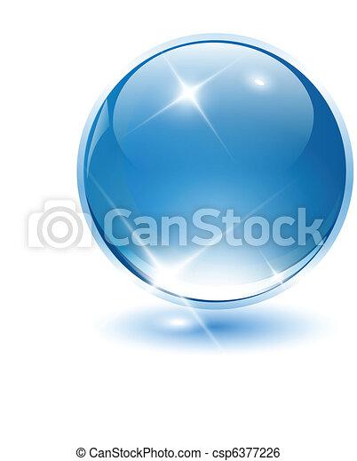 3D crystal sphere - csp6377226