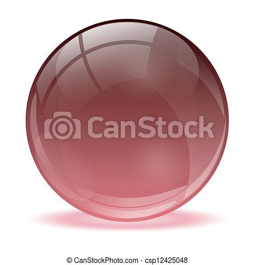 3D crystal sphere - csp12425048