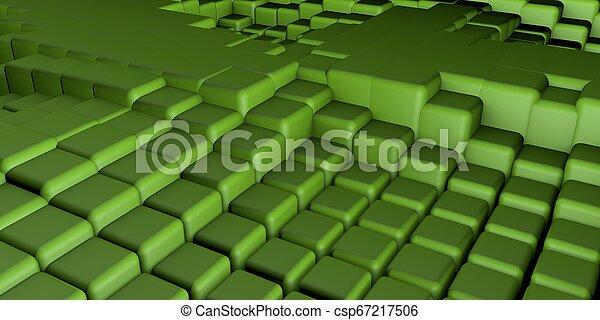 3D Cubes Background - csp67217506