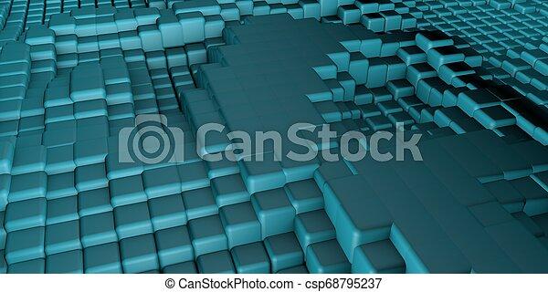 3D Cubes Background - csp68795237