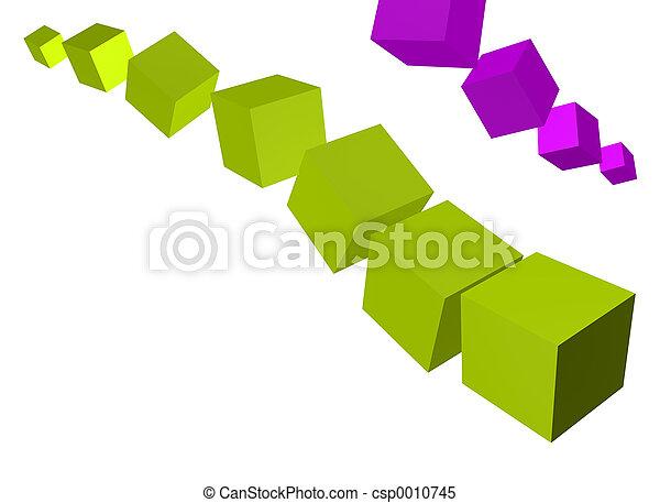 3D Cubes - csp0010745