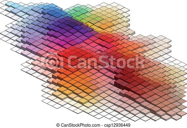 3d cubes, vector background - csp12936449