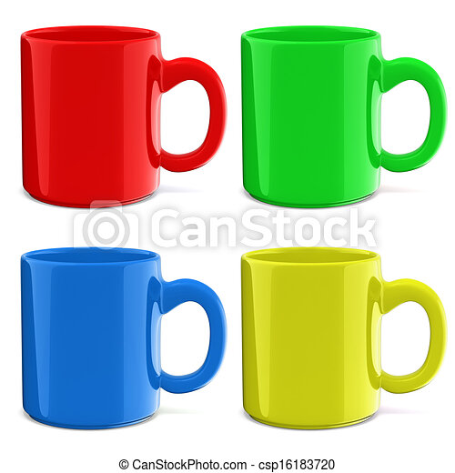 3d cup on white background - csp16183720