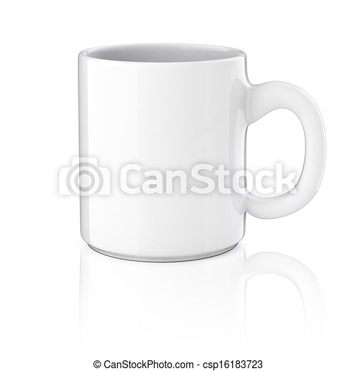 3d cup on white background - csp16183723