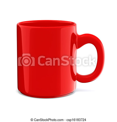 3d cup on white background - csp16183724