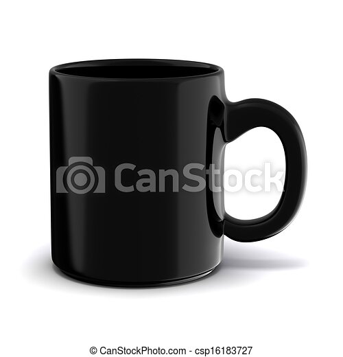 3d cup on white background - csp16183727
