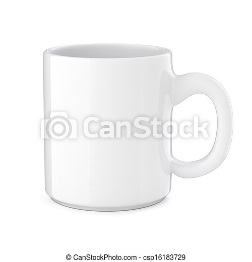 3d cup on white background - csp16183729