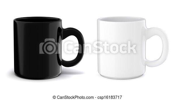 3d cup on white background - csp16183717