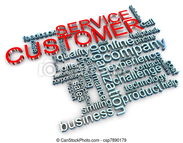 3d customer service tags - csp7890179