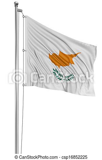 3D Cyprus flag - csp16852225