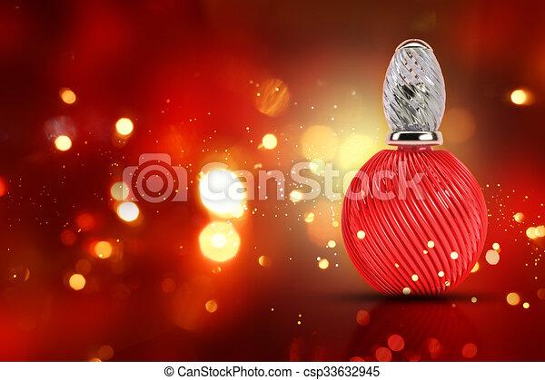 3D decorative perfume bottle - csp33632945