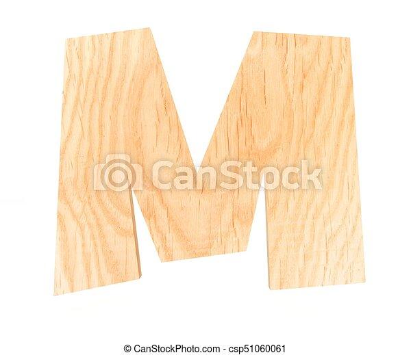 3d decorative wooden alphabet capital letter m csp51060061