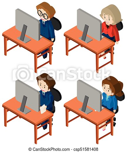 3d design for people working on computer illustration vector clipart rh canstockphoto com furniture clip art sketches furniture clip art free