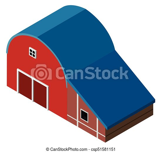 3D design for red barn - csp51581151