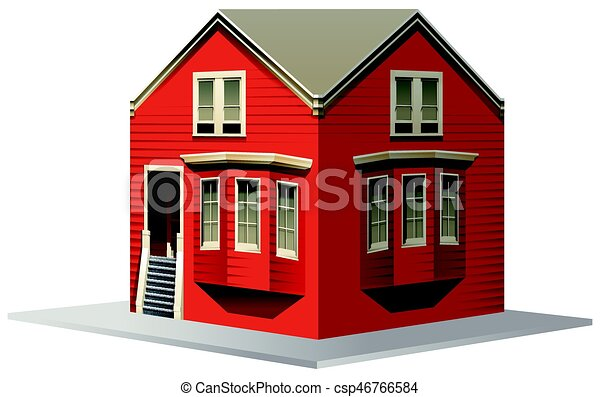 3D design for red house - csp46766584
